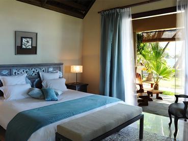 Chambre Vue Jardin de l'hôtel Sakoa à Grand Baie
