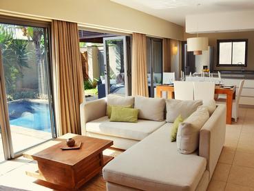 Salon de la Villa 4 Chambres d'Athena à Grand Baie