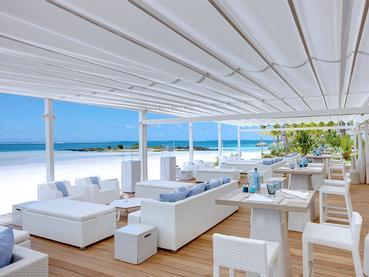 Le restaurant The Beach Rouge du LUX* Belle Mare