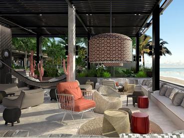Le Beach Rouge du LUX* Grand Baie, le restaurant et club de plage