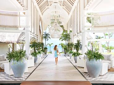 Le lobby de l'hôtel LUX* Grand Gaube à l'île Maurice