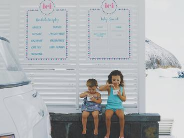 Dégustez une délicieuse glace au bar ICI du LUX* Grand Gaube