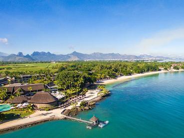 Vue aérienne de l'hôtel Maritim Resort & Spa Mauritius