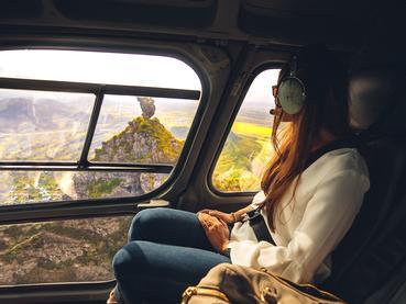 Balade en hélicoptère durant votre séjour au Saint Géran