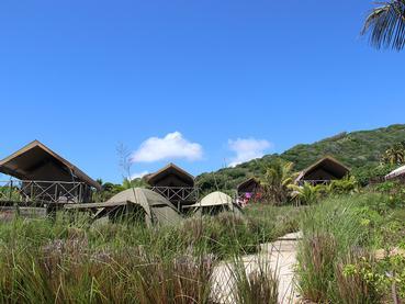 Vue des tentes d'Otentic Eco Tent Experience