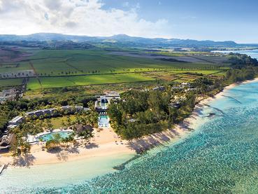 Vue aérienne de l'Outrigger Mauritius Beach Resort