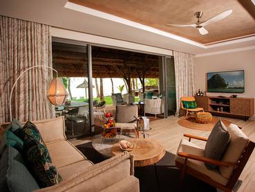 Le salon de la superbe Paradis Villa du Paradis Beachcomber