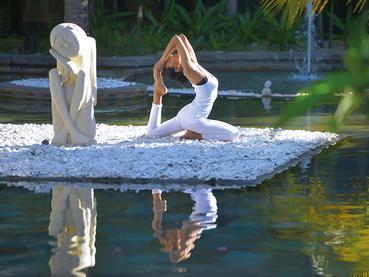Yoga à l'hôtel Paradis Beachcomber à l'île Maurice