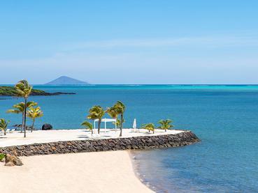 La plage du Radisson Blu Azuri à l'île Maurice