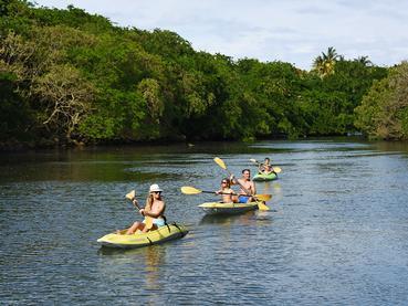 Kayak à l'hôtel Radisson Blu Azuri à l'île Maurice
