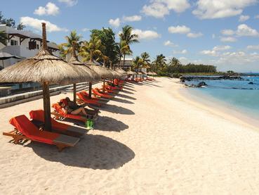 La plage de l'hôtel Le Récif Attitude à l'île Maurice