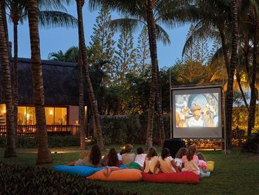 Le cinéma en plein air du Royal Palm à l'île Maurice