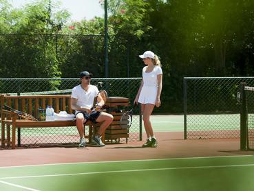 Le court de tennis du Sands Resort à Flic en Flac