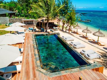 La superbe piscine du Seapoint Boutique Hotel