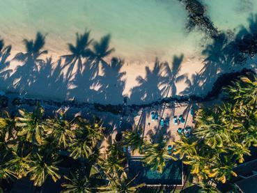 La plage de Belle Mare, l'une des plus belles de l'île Maurice