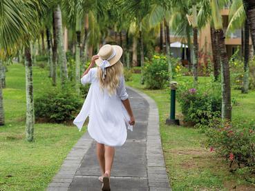 Promenez vous dans les jardins luxuriants du Shandrani