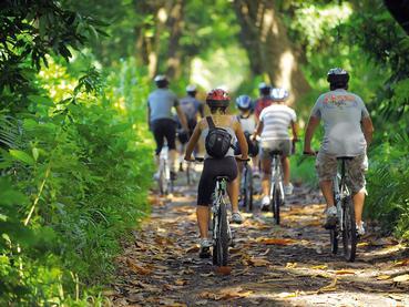 Balade à vélo au Shandrani situé sur une péninsule privée