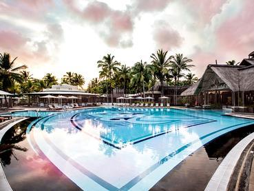La piscine du Shandrani Beachcomber à l'île Maurice