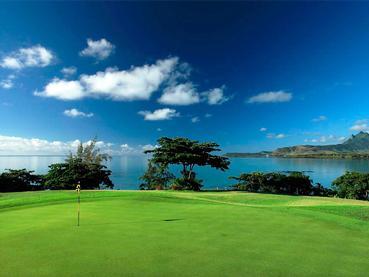 Terrain de golf de l'île aux Cerfs à l'Ile Maurice