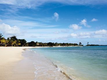 Plage de l'hôtel Shanti à l'Ile Maurice
