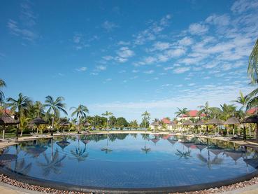 La piscine du Tamassa situé au sud-ouest de l'île Maurice