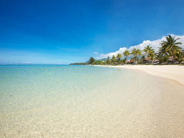 La superbe plage de l'hôtel Tamassa à Bel Ombre