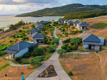 Les chambres de l'hôtel Tekoma à l'île Rodrigues