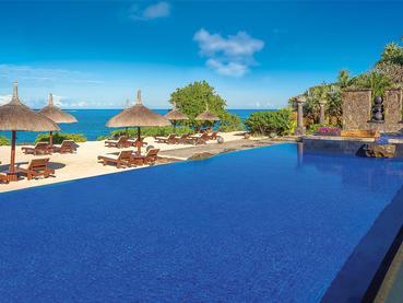 Autre piscine de l'Oberoi situé au nord ouest de l'Ile Maurice