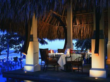 Restaurant de l'hôtel de luxe Oberoi à l'Ile Maurice