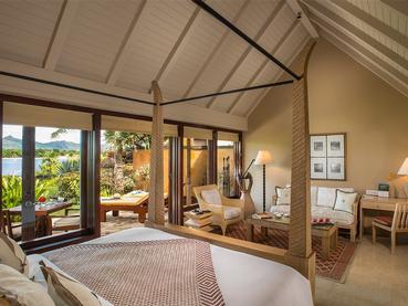 Luxury Pavilion de l'hôtel Oberoi situé dans la baie aux Tortues