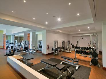 La gym de l'hôtel The Residence Mauritius à Belle Mare