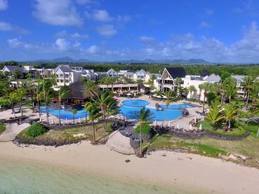 Vue aérienne de l'hôtel The Residence Mauritius