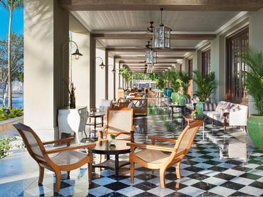 Le bar The 1904 de l'hôtel JW Marriott Mauritius