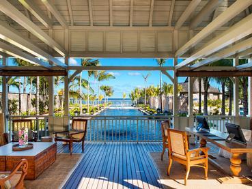 Le lobby du JW Marriott Mauritius situé à l'île Maurice