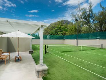 Le court de tennis de l'hôtel JW Marriott Mauritius
