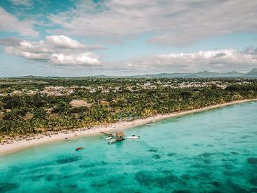 Vue aérienne de l'hôtel Trou Aux Biches Beachcomber
