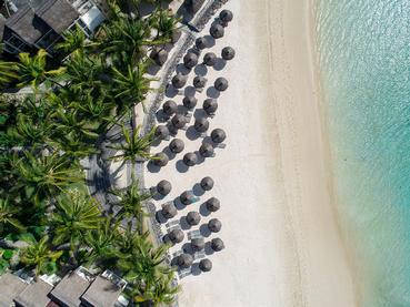 Vue aérienne du Veranda Palmar Beach à l'île Maurice