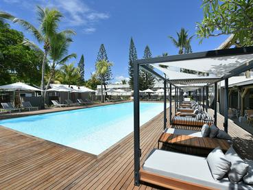 La piscine de l'hôtel Veranda Tamarin à l'île Maurice