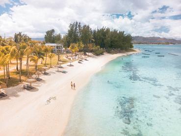 La superbe plage de l'hôtel Victoria Beachcomber