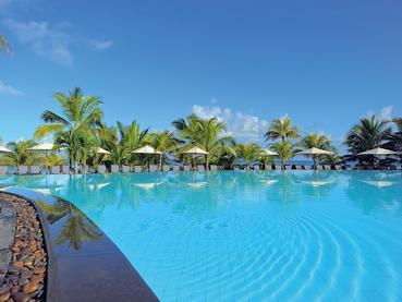 La piscine de l'hôtel Le Victoria à l'île Maurice