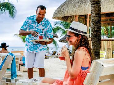 Beach Bar de l'hôtel Le Victoria à l'île Maurice