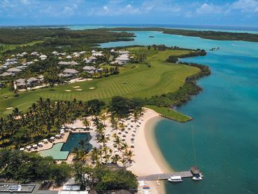Vue aérienne de l'Anahita Golf & Spa Resort à l'île Maurice
