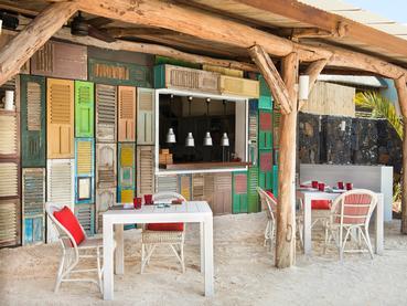 Le restaurant de plage Lor Disab du Zilwa Attitude