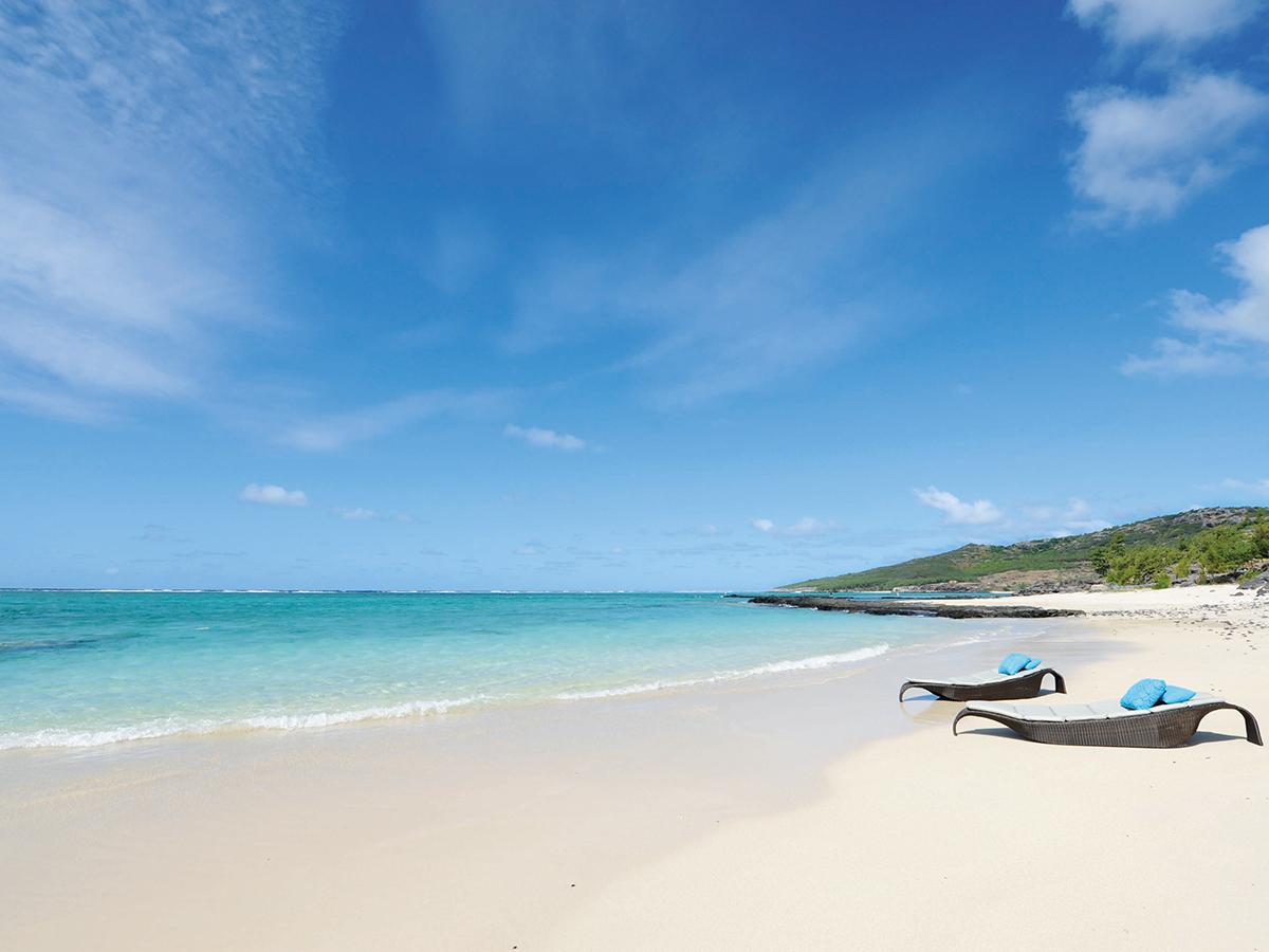 La plage du Tekoma Boutik Hotel Rodrigues