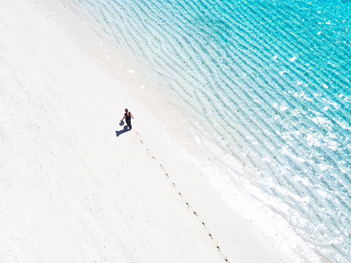 Balade sur la plage du Tekoma à l'île Rodrigues